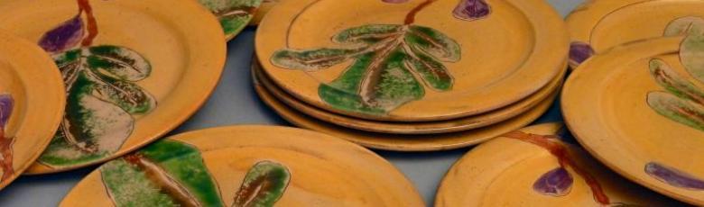 Assiettes plates figues