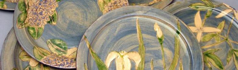 Dinner plates - Decoration blue
