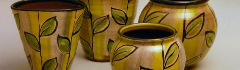 Vases - Feuilles de sauge