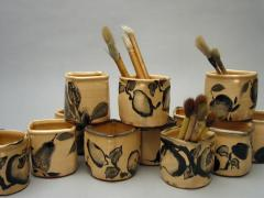 Jars for pens and brushes