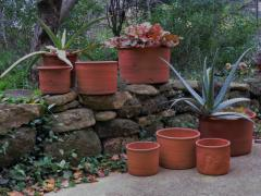 Terracotta flower pots