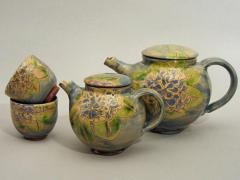 Teapots and tea cups - Hydrangea