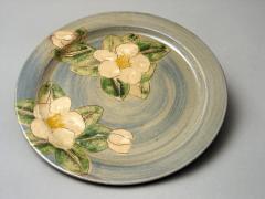 Assiette plate camélia
