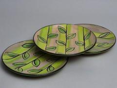 Assiettes feuilles de sauge