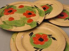 Assiettes plates coquelicot
