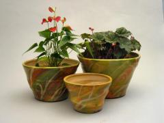 Cache-pots - Herbes vert et orangé