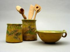Pots à cuillères et saucière