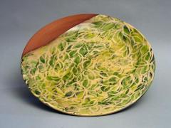 Grand plat aquatique vert