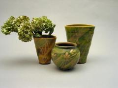 Vases ovales et vase boule